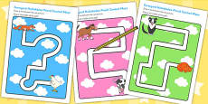 Pencil Control Path Activity Sheets to Support Teaching on Farmyard Hullabaloo