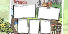 How to Train Your Dragon Review Writing Frame