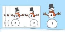 Snowman Number Bonds to Five