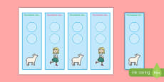 Mary Had a Little Lamb Editable Bookmarks