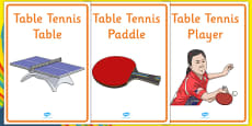 The Olympics Table Tennis Display Posters