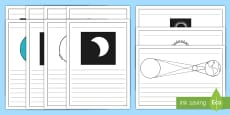 * NEW * Solar Eclipse Writing Frames Pack