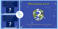 Which Planet Am I Interactive PowerPoint Game