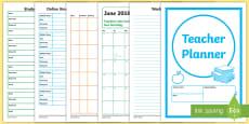 Teacher Planner Academic Year 2017 2018 Resource Pack