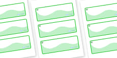 Emerald Themed Editable Drawer-Peg-Name Labels (Colourful)