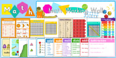 Math Working Wall Display Pack