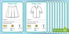 Fashion Design Studio Clothing Design Activity Sheet