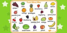 Fruit Word Mats