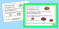 Ladybird Spot Maths Challenge A4 Display Posters