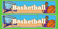 Basketball Display Banner