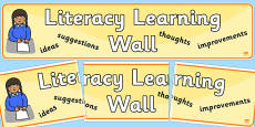 Literacy Learning Wall Display Banner