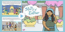 The Story of Esther Bible Story PowerPoint