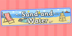 Sand and Water Display Banner