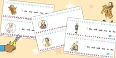 Combined Number and Alphabet Strips to Support Teaching on Dogger