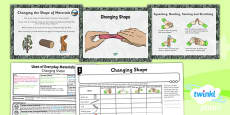 PlanIt - Science Year 2 - Uses of Everyday Materials Lesson 4: Changing Shape Lesson Pack