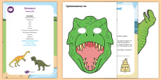 Dinosaurs Sensory Bin and Resource Pack