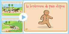 The Gingerbread Man Story PowerPoint French