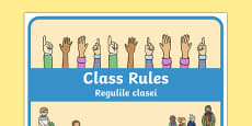 Class Rules Display Poster Romanian Translation