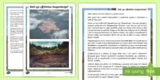 * NEW * Taflen Gwybodaeth Ysgrifennu Berswadiol Digoedwigo'r Fforest Law