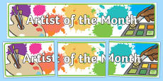 Artist of the Month Display Banner