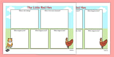 The Little Red Hen Book Review Writing Frame