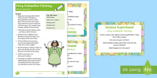 EYFS Fairy Godmother Painting Science Experiment and Prompt Card Pack