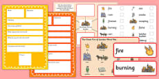 The Great Fire of London Pre-Teaching Vocabulary Pack