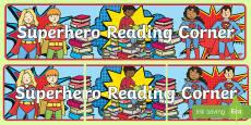 Superhero Reading Corner Banner