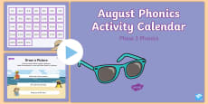 Phase 3 August Phonics Activity Calendar PowerPoint