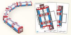Transport Paper Model Train