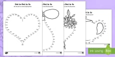 Mother's Day Dot to Dot in 5s Activity Sheet