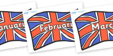 Months of the Year on British Flags