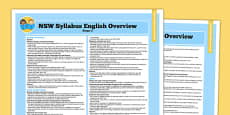NSW Stage 2 English Syllabus Overview