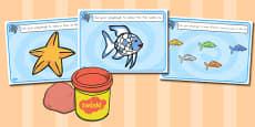 Australia - Playdough Mats to Support Teaching on The Rainbow Fish