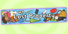 Lost Property Role Play Banner