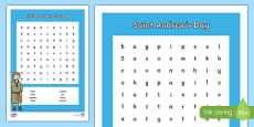 Saint Andrew's Day Word Search