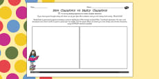 Nice Characters vs Nasty Characters Activity Sheet to Support Teaching on Matilda
