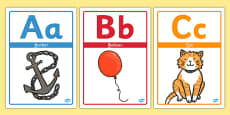 Alphabet Picture Display Posters