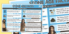 Stone Age Facts Poster