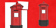Giant Display Role Play Postbox Cut-Out