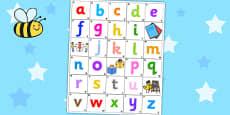 Bee Bot Alphabet Mat