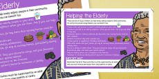 Helping the Elderly in Our Community Display Poster