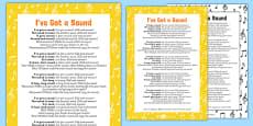 I've Got a Sound Rhyme Sheet