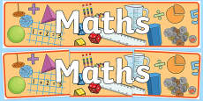Maths Display Banner