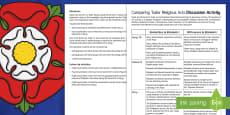 Comparing Tudor Religious Acts Discussion Activity