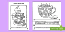Teacher Mindfulness Colouring Pages