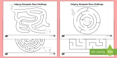 Calgary Stampede Maze Activity Sheet