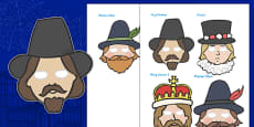 Gunpowder Plot Stick Puppets