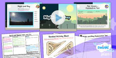 PlanIt - Science Year 5 - Earth and Space Lesson 4: Night and Day Lesson Pack
