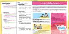 PlanIt - Science Year 5 - Animals Including Humans Planning Overview CfE